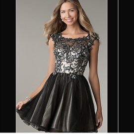 Queenly size 0  Black A-line evening gown/formal dress