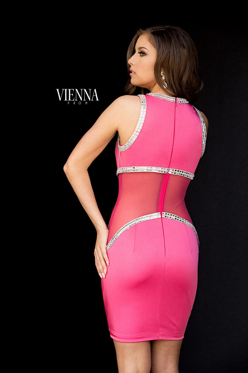 Style 6029 Vienna Pink Size 8 Mini Cocktail Dress on Queenly
