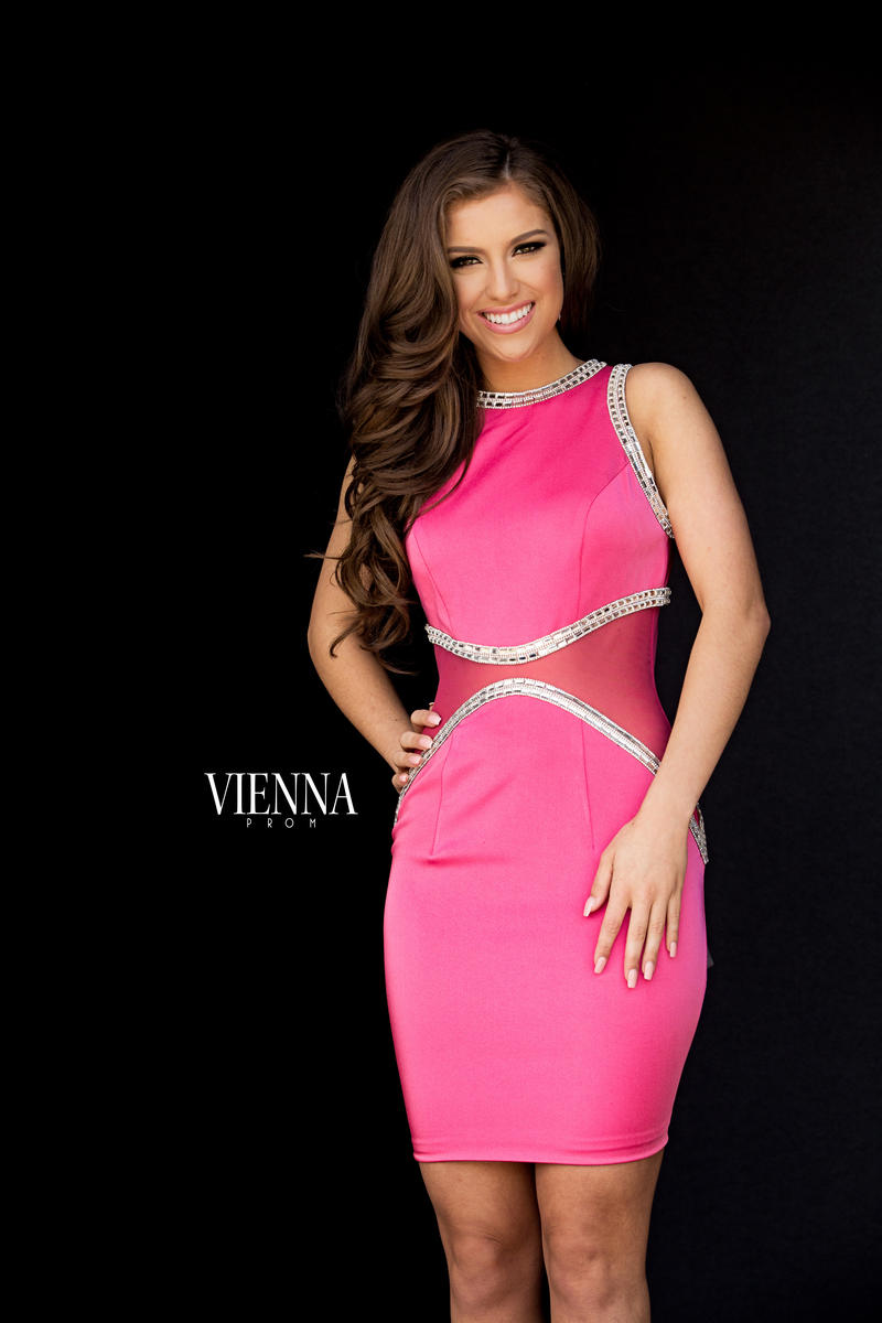 Style 6029 Vienna Pink Size 12 Fitted Plus Size Cocktail Dress on Queenly