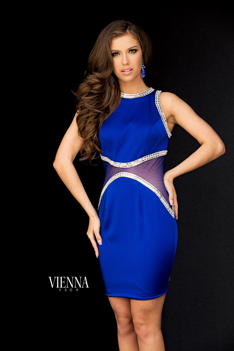 Queenly size 6 Vienna Blue Cocktail evening gown/formal dress