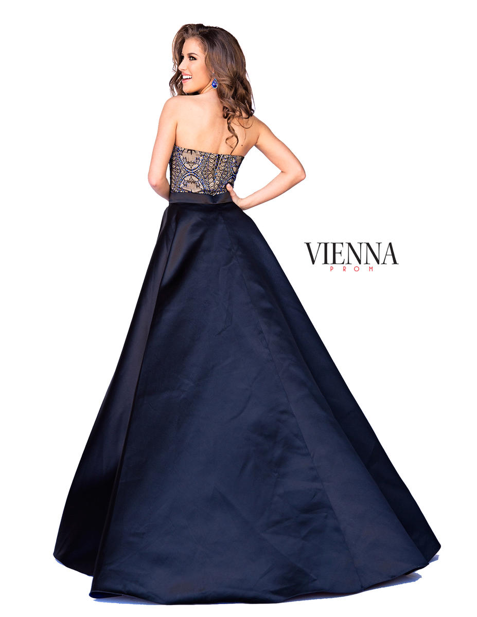Style 6031 Vienna Blue Size 6 Mini Tall Height Cocktail Dress on Queenly