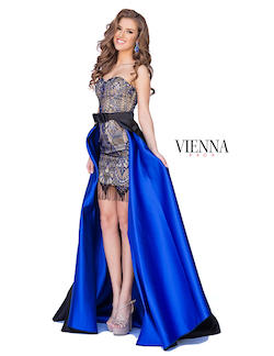 Queenly size 20 Vienna Blue Cocktail evening gown/formal dress