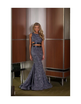 Jovani Silver Size 2 Tall Height Custom Mermaid Dress on Queenly