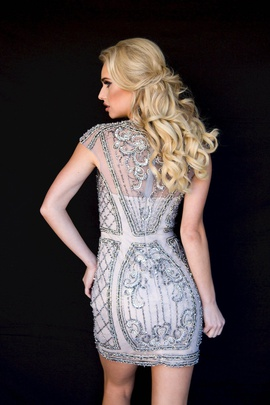 Style 6056 Vienna Silver Size 4 Cocktail Dress on Queenly