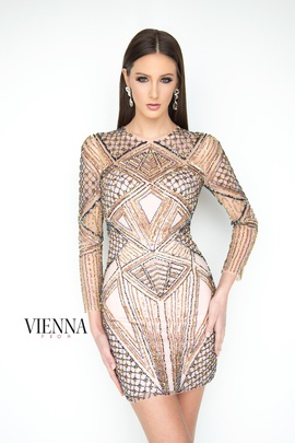 Style 6059 Vienna Nude Size 0 Sheer Cocktail Dress on Queenly