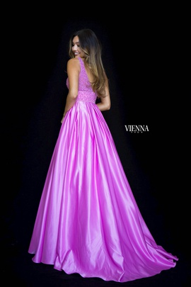 Style 7802 Vienna Purple Size 12 Plunge Backless Ball gown on Queenly
