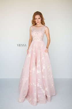 Style 7807 Vienna Light Pink Size 6 Print Lace Ball gown on Queenly