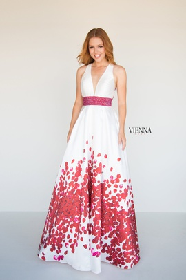 Style 7811 Vienna Red Size 00 Backless Tall Height A-line Dress on Queenly