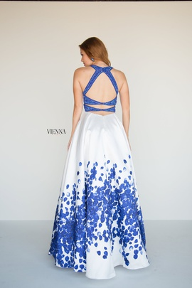 Style 7811 Vienna Blue Size 10 Backless Tall Height A-line Dress on Queenly