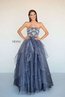 Style 7818 Vienna Gold Size 0 Tulle Tall Height A-line Dress on Queenly