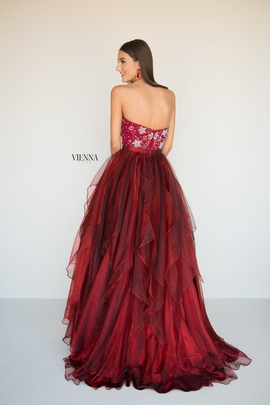 Style 7818 Vienna Red Size 4 Tall Height A-line Dress on Queenly