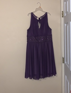 Queenly size 14  Purple Cocktail evening gown/formal dress