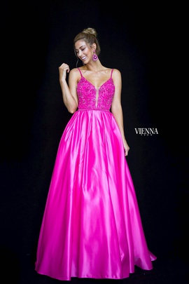Style 7822 Vienna Pink Size 20 Plunge Plus Size Ball gown on Queenly