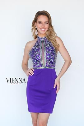 Queenly size 0 Vienna Purple Cocktail evening gown/formal dress