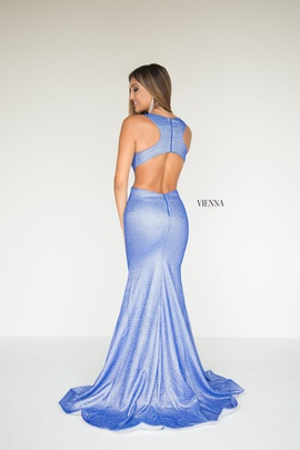 Style 8900 Vienna Blue Size 4 Tall Height Mermaid Dress on Queenly