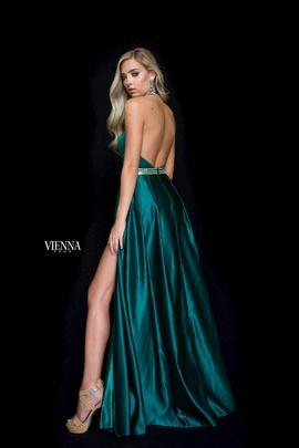 Style 8608 Vienna Red Size 10 Train Silk Halter Fun Fashion Romper/Jumpsuit Dress on Queenly