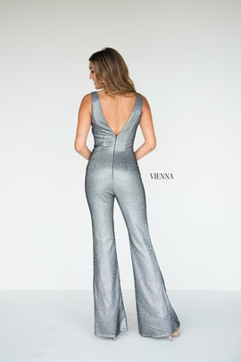 Style 8702 Vienna Silver Size 12 Tall Height Romper/Jumpsuit Dress on Queenly