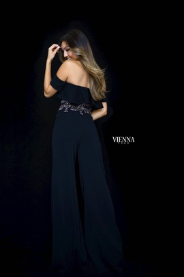 Style 8703 Vienna Black Size 12 Fun Fashion Two Piece Plus Size Romper/Jumpsuit Dress on Queenly