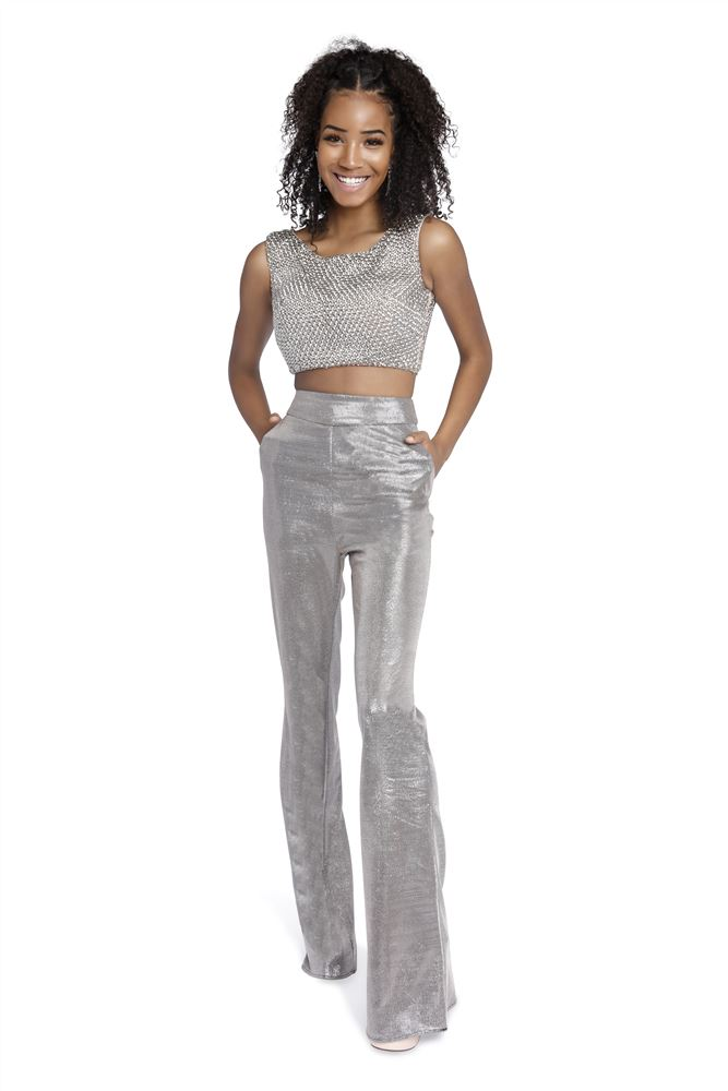 Style 8707 Vienna Silver Size 6 Jumpsuit Fun Fashion Two Piece Romper/Jumpsuit Dress on Queenly