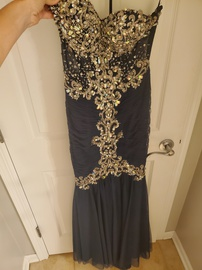 Queenly size 0  Blue Mermaid evening gown/formal dress