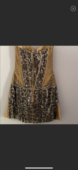 Sherri Hill Gold Size 4 Jewelled Mini Party A-line Dress on Queenly