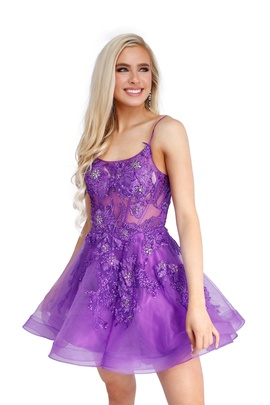 Queenly size 0 Vienna Purple Cocktail evening gown/formal dress