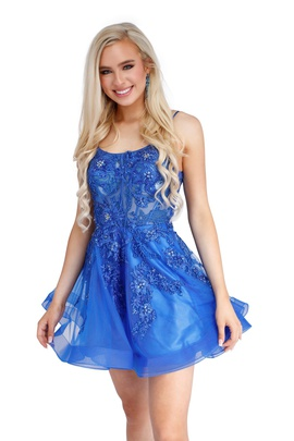 Queenly size 0 Vienna Blue Cocktail evening gown/formal dress