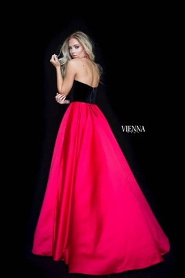 Style 7827 Vienna Red Size 8 Tall Height A-line Dress on Queenly