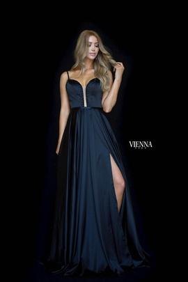Queenly size 14 Vienna Black Side slit evening gown/formal dress