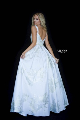 Style 7832 Vienna White Size 14 Plus Size Backless A-line Dress on Queenly