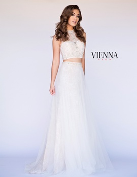 Style 7904 Vienna White Size 12 Sheer Two Piece Plus Size Ball gown on Queenly
