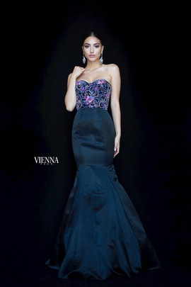 Style 82001 Vienna Black Size 10 Pageant Sweetheart Tall Height Mermaid Dress on Queenly