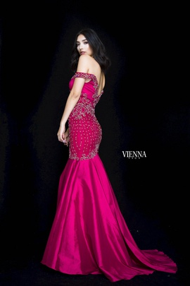 Style 82002 Vienna Red Size 14 Backless Tall Height Mermaid Dress on Queenly