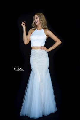Style 82009 Vienna White Size 4 Backless Tall Height Mermaid Dress on Queenly