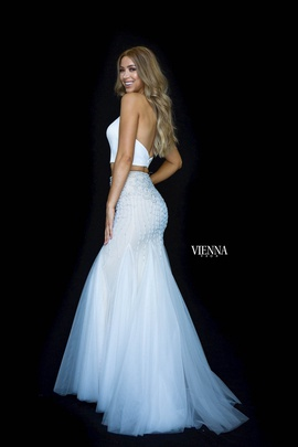 Style 82009 Vienna White Size 12 Plus Size Backless Mermaid Dress on Queenly