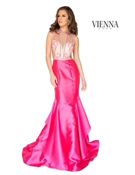 Queenly size 12 Vienna Pink Mermaid evening gown/formal dress