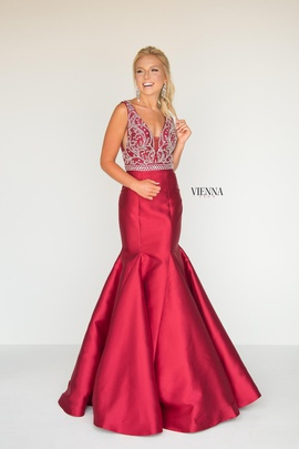 Queenly size 14 Vienna Red Mermaid evening gown/formal dress