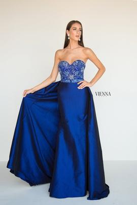 Queenly size 14 Vienna Blue Train evening gown/formal dress