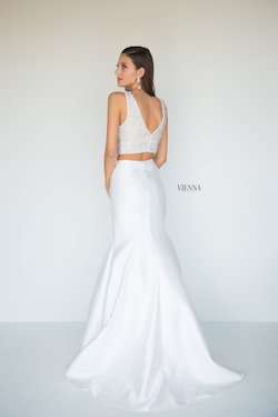Style 8289 Vienna White Size 12 Cut Out Two Piece Plus Size Mermaid Dress on Queenly