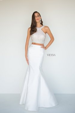 Style 8289 Vienna White Size 12 Plus Size Backless Mermaid Dress on Queenly