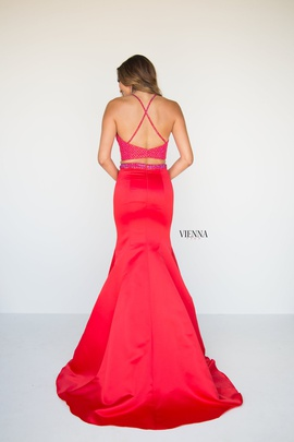 Style 8291 Vienna Red Size 00 Jewelled Backless Tall Height Mermaid Dress on Queenly