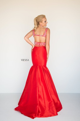Style 8292 Vienna Red Size 2 Jewelled Tall Height Mermaid Dress on Queenly
