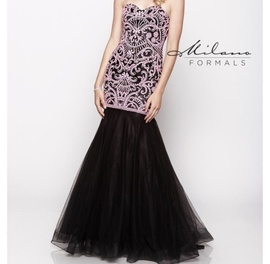 Queenly size 14 Milano Pink Mermaid evening gown/formal dress