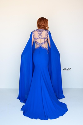 Style 9933 Vienna Blue Size 2 Backless Tall Height Straight Dress on Queenly