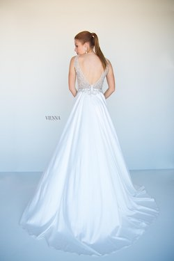 Style 9937 Vienna White Size 6 Backless Tall Height Lace A-line Dress on Queenly