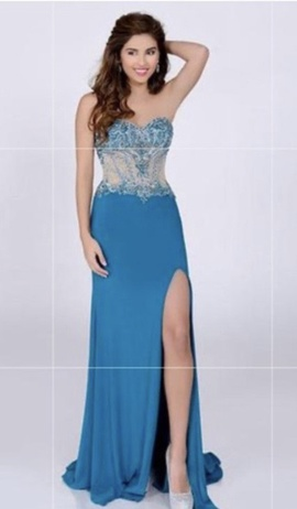Blue Size 4 Side slit Dress on Queenly