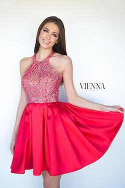Queenly size 8 Vienna Red Cocktail evening gown/formal dress