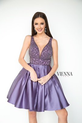 Queenly size 18 Vienna Purple Cocktail evening gown/formal dress