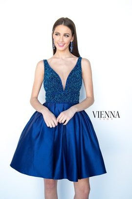 Style 6097 Vienna Blue Size 00 Interview Cocktail Dress on Queenly