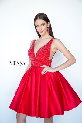 Queenly size 10 Vienna Red Cocktail evening gown/formal dress